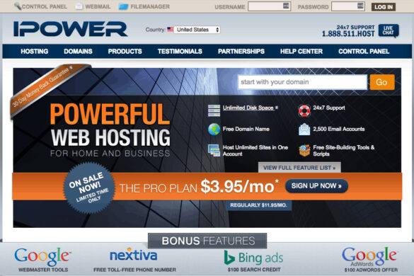 iPower Hosting Review